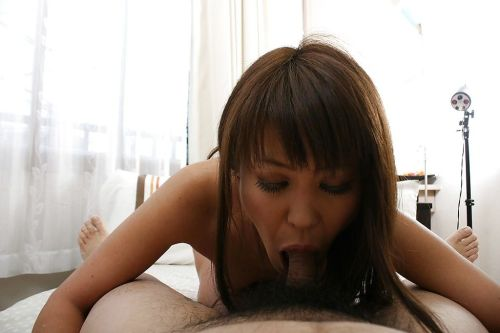 Mature asian lady Emiko Okajima gives head and gets fucked hard